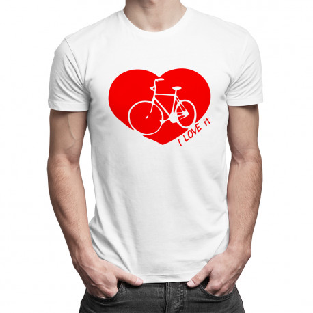 I Love It (my bike) - męska koszulka z nadrukiem
