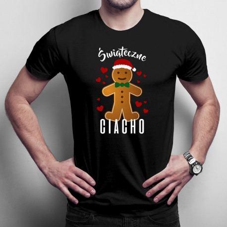 Świąteczne ciacho - męska koszulka z nadrukiem