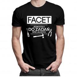 Facet jednostka do zadań specjalnych - męska koszulka z nadrukiem