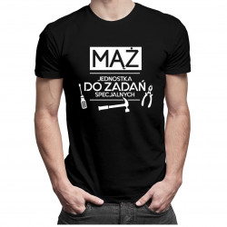 Mąż jednostka do zadań specjalnych - męska koszulka z nadrukiem