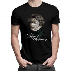 Adam Mickiewicz - męska koszulka z nadrukiem