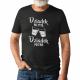 Dziadek nie pyta, dziadek polewa - męska koszulka z nadrukiem