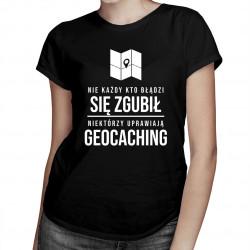 Geocaching - damska koszulka z nadrukiem