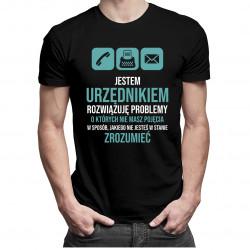 Jestem urzędnikiem, rozwiązuję problemy - męska koszulka z nadrukiem