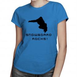 Snowboard Rocks! - damska lub męska koszulka z nadrukiem
