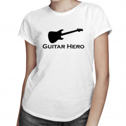Guitar Hero - damska koszulka z nadrukiem