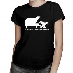 Chopin - damska lub męska koszulka z nadrukiem