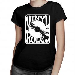 Vinyl Rules - damska lub męska koszulka z nadrukiem