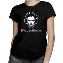 (Dr) House Music - damska koszulka z nadrukiem