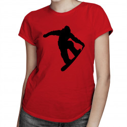 Snowboarder - damska koszulka z nadrukiem