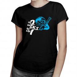 Co 2 deSKI to nie jedna - damska koszulka z nadrukiem