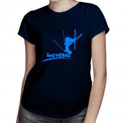 I Love Ski - damska koszulka z nadrukiem