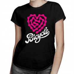 Bicycle – heartbeat chain - damska lub męska koszulka z nadrukiem