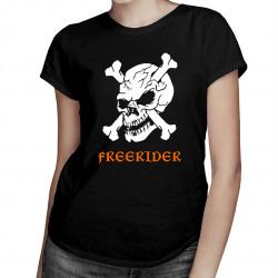 Freerider - damska koszulka z nadrukiem
