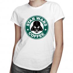 Star Wars Coffee - damska koszulka z nadrukiem