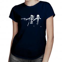 Star Wars vs. Pulp Fiction - damska koszulka z nadrukiem