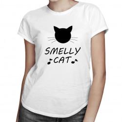 Smelly cat - damska koszulka z nadrukiem