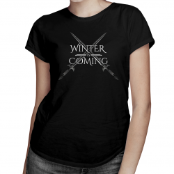 Winter is coming - damska koszulka z nadrukiem