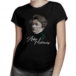 Adam Mickiewicz - damska koszulka z nadrukiem