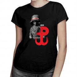 Powstanie warszawskie - damska koszulka z nadrukiem