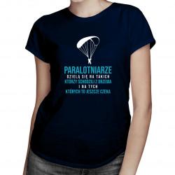Typy paralotniarzy - damska koszulka z nadrukiem