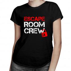 Escape room crew - damska koszulka z nadrukiem