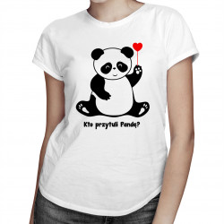 Kto przytuli pandę? - damska koszulka z nadrukiem