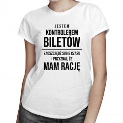 Kontroler biletów - damska koszulka z nadrukiem