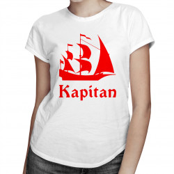 Kapitan - damska koszulka z nadrukiem