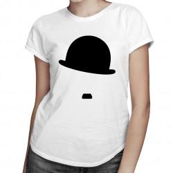 Charlie Chaplin - damska koszulka z nadrukiem