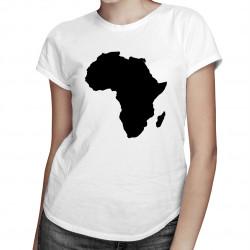 Africa - damska koszulka z nadrukiem
