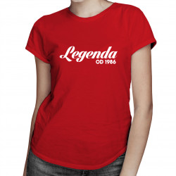 Legenda od... - damska koszulka z nadrukiem
