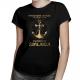 Spokojne morze nie zrobi z ciebie dobrego żeglarza - damska koszulka z nadrukiem