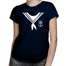 Mariner shawl - damska koszulka z nadrukiem