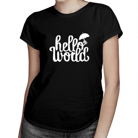 Hello world! - damska koszulka z nadrukiem