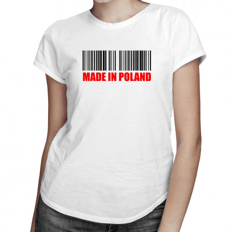 Made in Poland - damska koszulka z nadrukiem