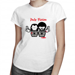 Pulp Fiction Cartoon - damska koszulka z nadrukiem