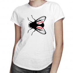 Nic nie muszę - damska koszulka z nadrukiem