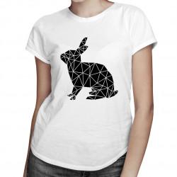 Geometric Bunny - damska koszulka z nadrukiem