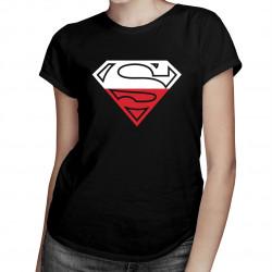 Polski Superman - damska koszulka z nadrukiem