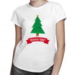 Wesołych świąt - damska koszulka z nadrukiem