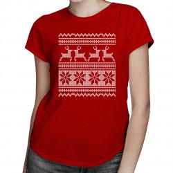 Koszulka świąteczna - damska koszulka z nadrukiem