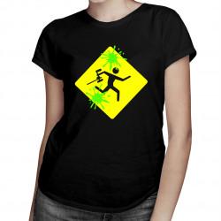 Paintball gra - damska koszulka z nadrukiem