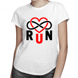 Run Infinity - damska koszulka z nadrukiem
