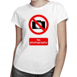 No Photo - damska koszulka z nadrukiem