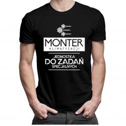 Monter klimatyzacji jednostka do zadań specjalnych - męska koszulka z nadrukiem