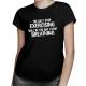 The day I stop exercising will be the day I stop breathing - damska koszulka z nadrukiem