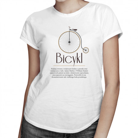 Bicykl - damska koszulka z nadrukiem