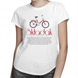 Składak - damska koszulka z nadrukiem