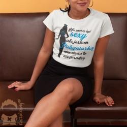 Nie znoszę być sexy, ale jestem pielęgniarką, więc nic na to nie poradzę - damska koszulka z nadrukiem